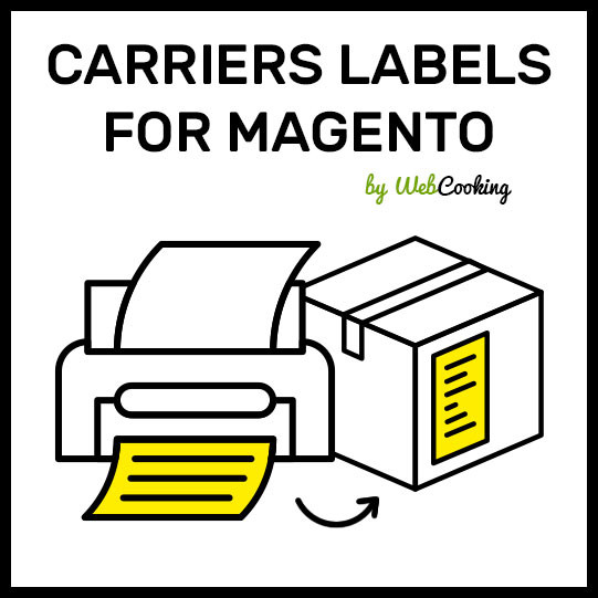 carriers labels magento