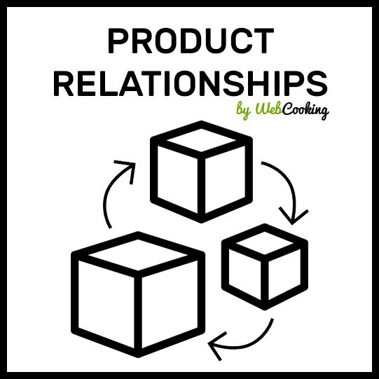 make relations between products magento, product relationships