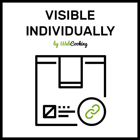 product Visible Individually - magento