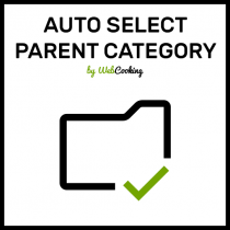 Auto Select Parent Category on magento