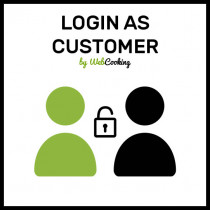 how to login as customer on Magento?