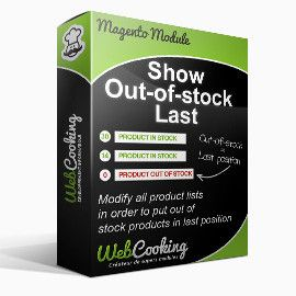 Show out of stock last in magento