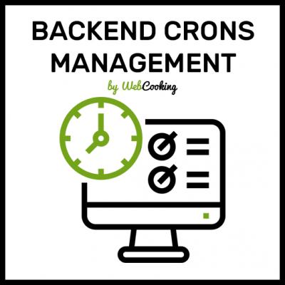 Magento2 backend cron management