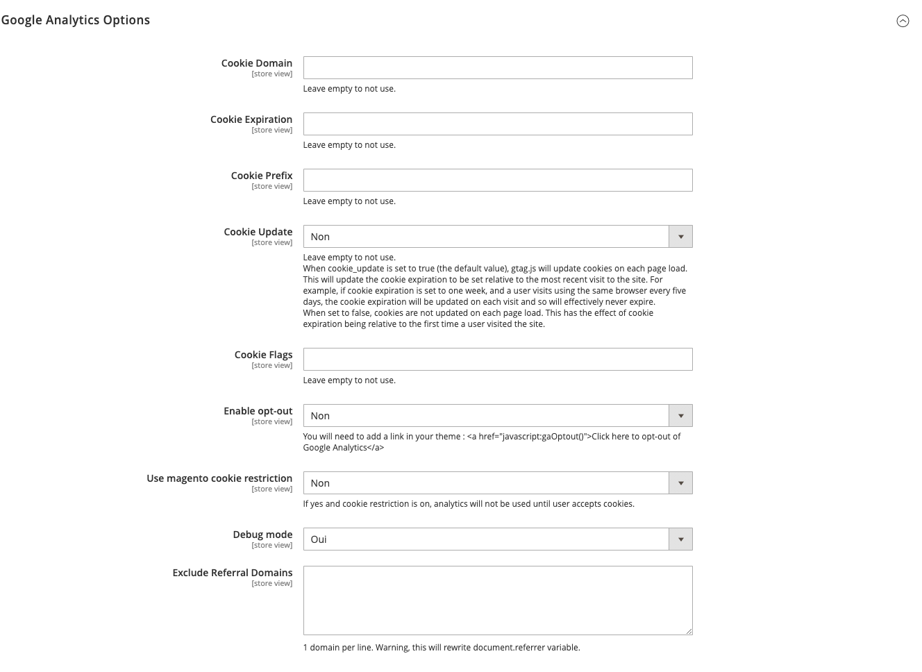 google analytics 4 - ga4 options - magento 2