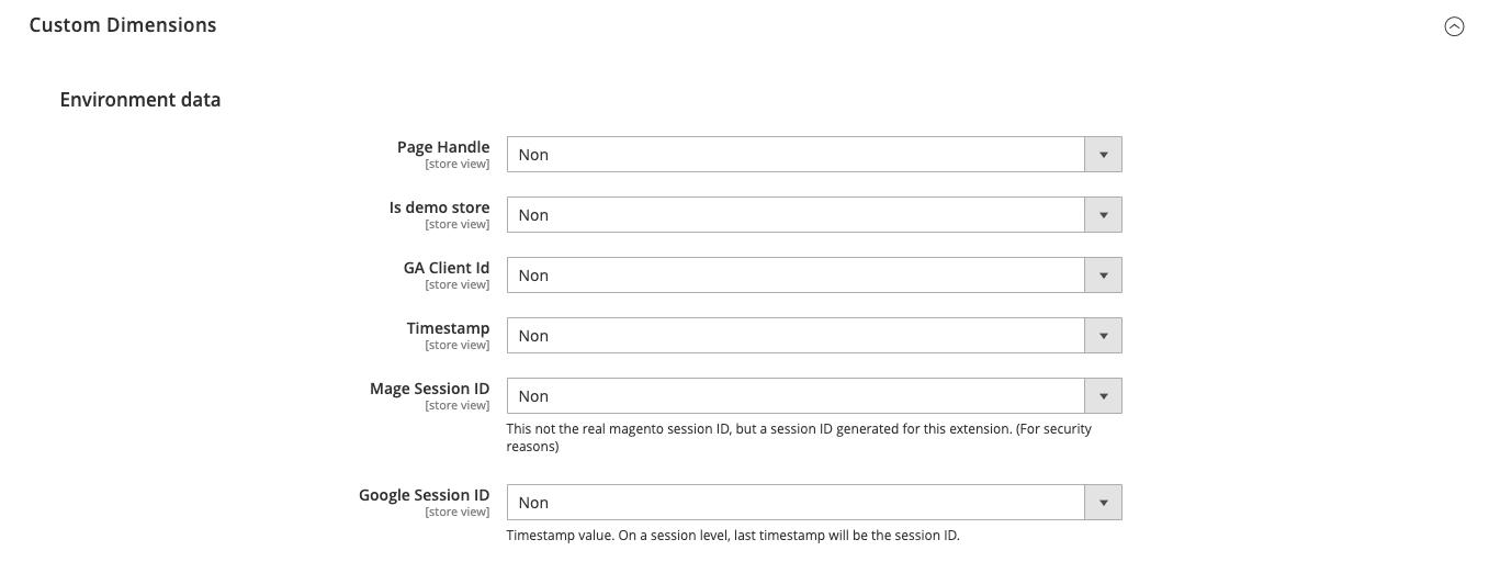 google analytics 4 - Custom properties : env - magento 2